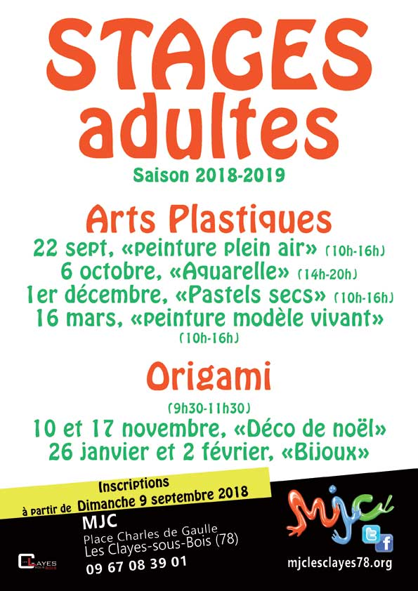 Stages adultes 2018 2019