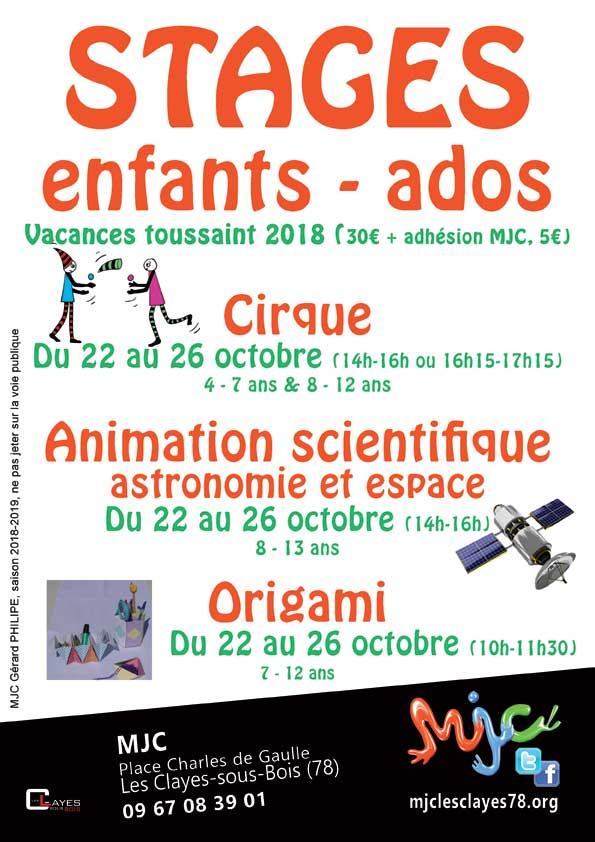 Stages enfants oct 2018